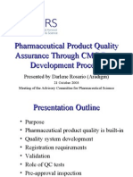 Pharmaceutical Product Quality Assurance Through CMC Drug Development Process