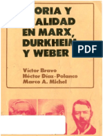 AAVV - Teoria y Realidad en Marx Durkheim y Weber OCR
