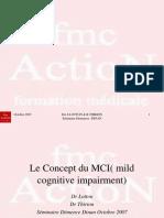 2.Le Concept Du MCI( Mild Cognitive Impairment)