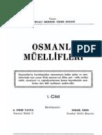 Bursalı Mehmed Tahir - Osmanlı Müellifleri I