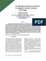 An Effivient Iris Recognition Mathod Based on Gabor Wavelet Neural Network2