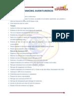 Ranking de Aventureros 2012