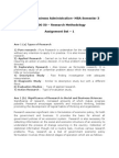 Assignment - MB0050 Research Methodology