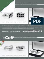 LeCuff, gemelli da polso, fermacravatte e fermasoldi, produzione e vendita online Polso Lecuff
