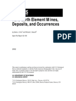 Rare Earth Mines, Deposits, Occurrences
