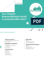 Societal Cum Integram Rs in Proiectele Ong-urilor