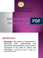 Measurements and Sources of Errors1