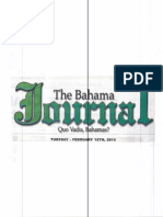 """""""Activists Chides Bacon for Clifton Cay Led Deception"""" The Bahama Journal"""