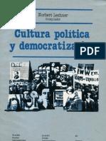 Lechner - Cultura Politica y Democratizacion