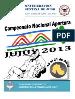 Reglamento Nacional Apertura Jujuy 2013