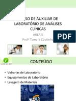 AULA 5 - CURSO DE AUXILIAR DE LABORATÓRIO DE ANÁLISES CLÍNICAS