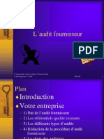 01 Audit Fournisseur 210106