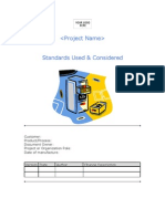 4.1 Standards Used & Considered
