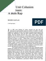 Army Unit Cohesion in Vietnam - A Bum Rap - A515790