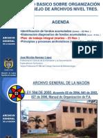 CURSO BASICO SOBRE ORGANIZACIÓN Y MANEJO DE ARCHIVOS NIVEL TRES.ppt