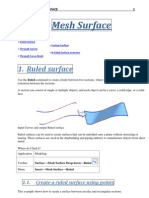 Unigraphics NX8 - Mesh Surface