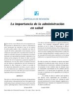 importancia de la administración en salud