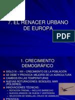 Tema 7. El Renacer Urbano de Europa
