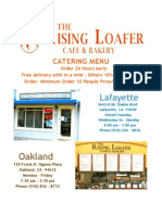 The Rising Loafer Cafe Catering Menu