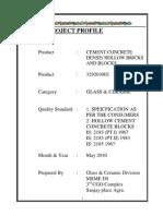 HOLLOW CONCRETE BLOCK  Project Profile