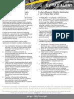 Tax Alert 2013 - Creación del argano Superior para la Optimización del Sistema Cambiario