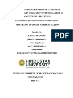 A Study on Identification of Investment Opportunities in Commodity Futures Market in India Infoline Ltd (1)
