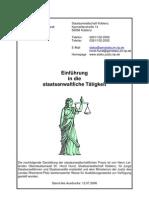 Einführung in die staatsanwaltliche Tätigkeit