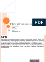 Types of Processors and RAM's