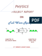 Full Wave Rectifier Class 12 Project