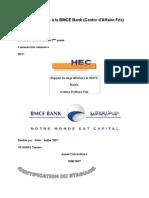 Rapport de stage à la BMCE Bank