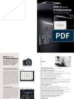 EOS 5D Mark III AF Setting Guidebook