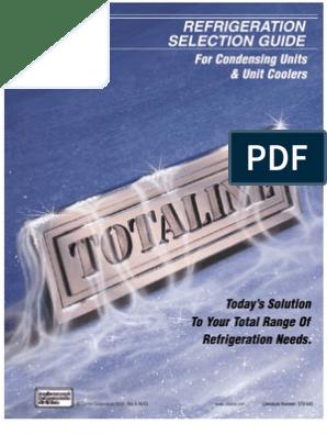 carrier cold room calculaton pdf | Refrigerator | Refrigeration
