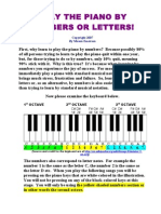 Play the Piano by Numbers or Letters