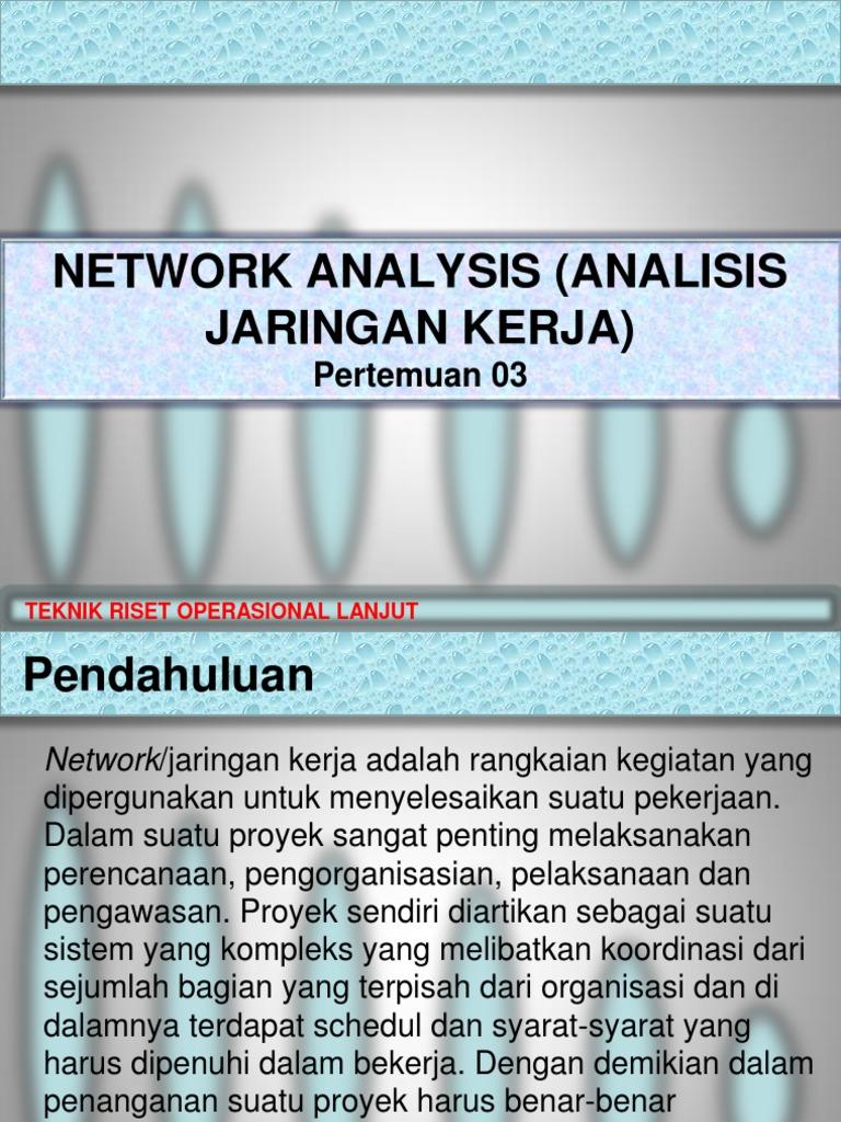 03 network analysis analisis jaringan kerjatro network analysis analisis jaringan kerjatro ccuart Images