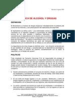 Politica de Alcohol y Drogas