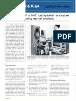 Speaker Enclosure Design Using Modal Analysis