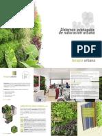 Sistemas avanzados de Naturación Urbana de Terapia urbana