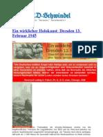 Ein Wirklicher Holokaust Dresden 13. Februar 1945