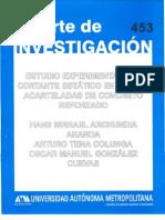 Vigas Acarteladas Informe Tecnico