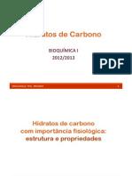 Aula 12 - Hidratos de Carbono