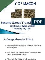 2nd Street Downtown Corridor Master Plan Presentation.