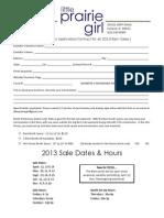 Little Prairie Girl Contract