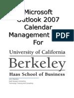 UC Outlook 2007 Calendar