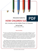 How Children Succeed by Paul Tough - Discussion Guide