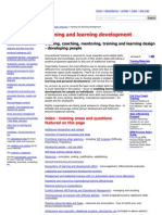 training and learning development