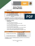 Artes Marciales Anexo Tecnico
