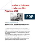 Autoatentado a la Embajada de Israel en Buenos Aires Argentina 1992.docx