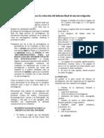 GUIA METODOLÓGICA PARA LA ELABORACIÓN DE UN INFORME FINAL DE INVESTIGACIÓN