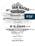 Bach - Suite Vc-Pno 4 Suite No5 Schumann-Stade 1871 for Cello and Piano