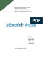 La Educacion en Venezuela